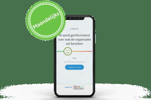 maandelijkse tevredenheidsmeter op je mobiel